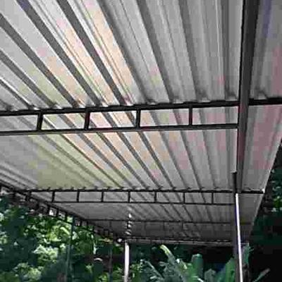 cobertura com telhas galvanizado