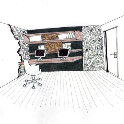 Croqui de projeto de escritório