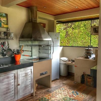 Fachada espaço gourmet e spa