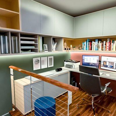 Projeto de Interiores de mezanino e loft