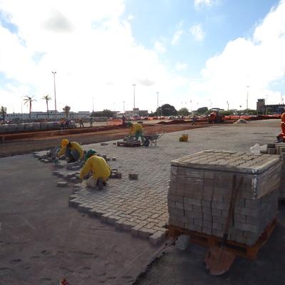 pavimentação com bloquete,Aeroporto Internacional de Brasília.