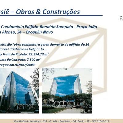 Obra: Condomínio Edifício Ronaldo Sampaio