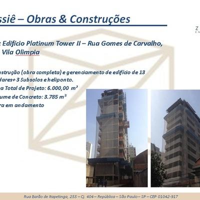 Obra: Edifício Platinum Tower II