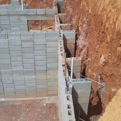 Muro de Arrimo h 6 m com Bloc de Encaixe