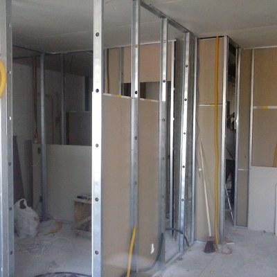 Divisorias em Drywall com acabamento