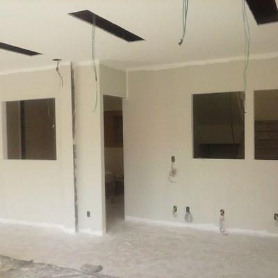 Divisórias em Drywall com acabamento