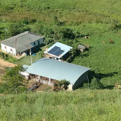 Instalação de sistema Solar Fazenda
