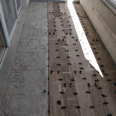 Reforma piso sacada