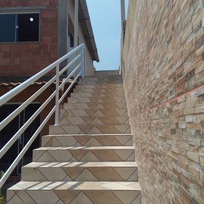 Corrimão de escada .
