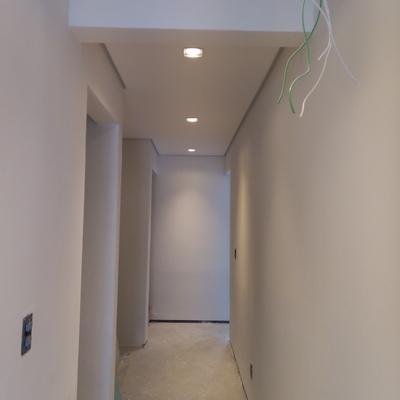 Forro Drywall e instalações elétrica.