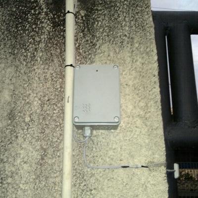 Instalação de sensor de porta aberta