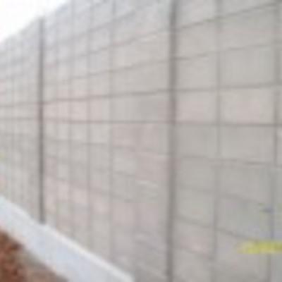 muro de blocos de concreto