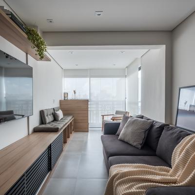 Sala e varanda integradas