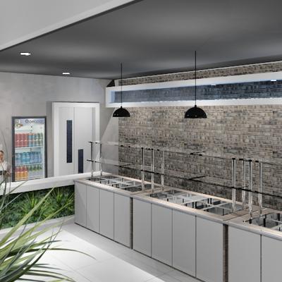 Interiores - Restaurante - Buffet