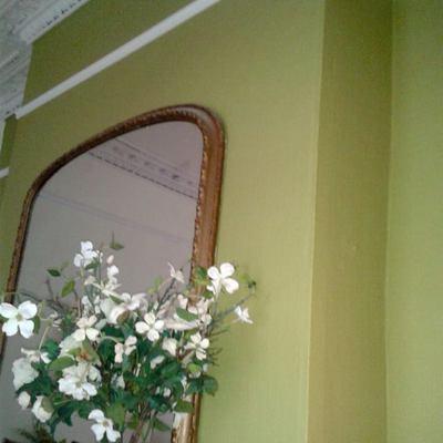 pintura de parede com detalhes em gesso