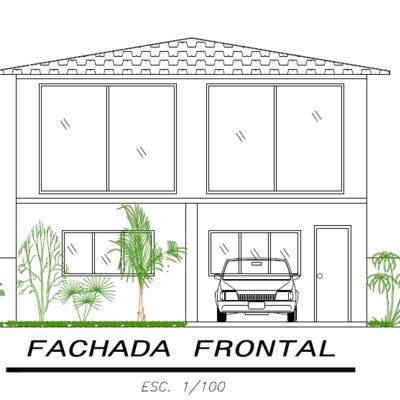 Projeto de uma fachada residencial