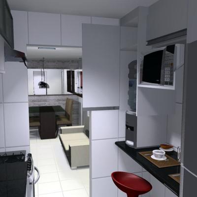 Projeto para  cozinha de 2,0 x 2,10 m