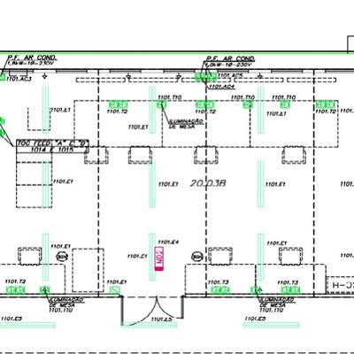 Projetos arquitetônicos e de instalações