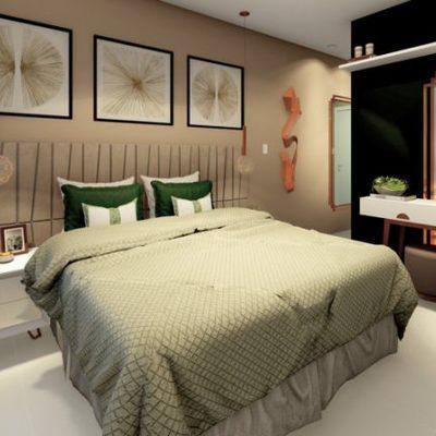 Projeto de Arquitetura e Interiores de Quarto de Casal