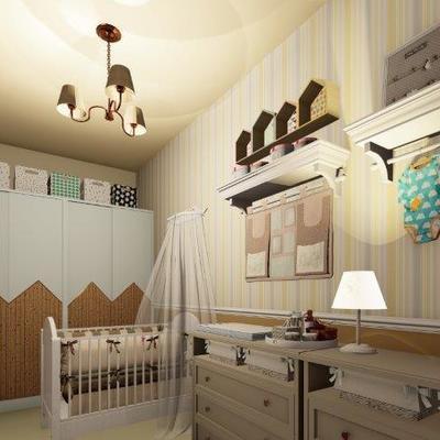 Projeto de Arquitetura e Interiores de Quarto de Bebê