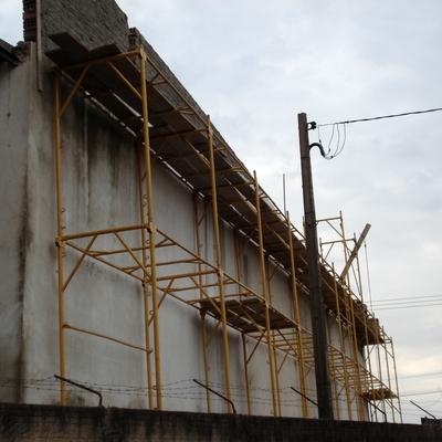reforma fachada galpão antes