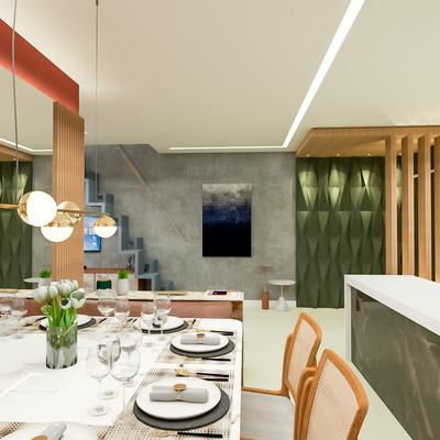 Sala de Estar Moderna e Luxuosa