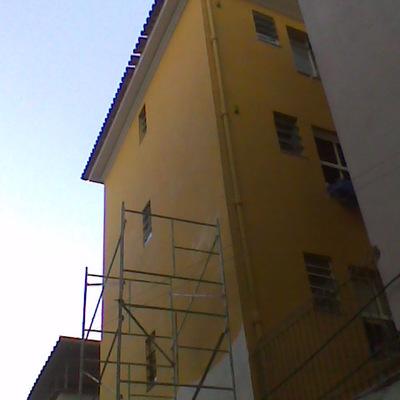 Restauração de fachada em edifício na tijuca.