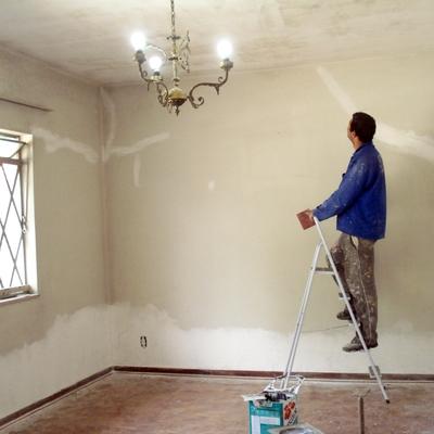 Restauração e pintura em uma residencia em Ribeirão Pires.
