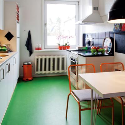 Revestimento  tecnocimeto em piso color