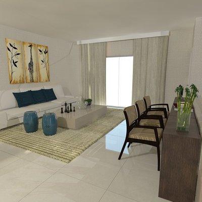 sala de estar jantar e home tv