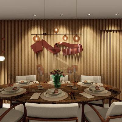 Decoração de Sala de Jantar de Apartamento Novo