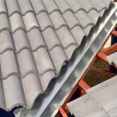 telhado cinza perola