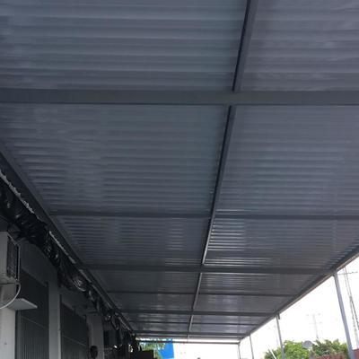 Telhado de amianto / Fabricação de estrutura metálica com painel termo acústico