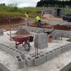 Construção casa terminar as paredes já estão levantadas