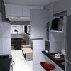Projeto de decoração de para confeccionar móveis para cozinha e sala conjugados