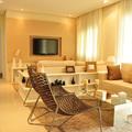 Ambiente completo Sala de TV + Estar - Apto decorado Construtora Jacy