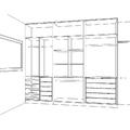 Armário planejado 3 portas de correr