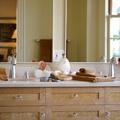 CabineteDetalhe do banheiro suite master em maple wood