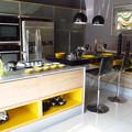 Cozinha e balcão - Cinza Absoluto e Preto Stellar