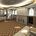 Edifício residencial - estar recepção