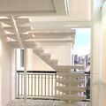 Escada transportada para varanda