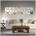 Espelho Acrílico de Parede Design Geométrico Moderno
