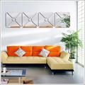 Espelho Acrílico de Parede Design Quadrado CÍrculo Central