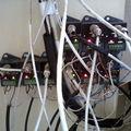 Esquema de ligação antigo das câmeras com uso de Balun Ativo.