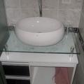 Instalação de gabinete + lavatório.