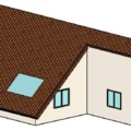 Janelas de vidro no telhado