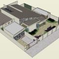 Jogo de telhados-casa térrea