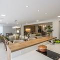 Living integrado ao espaço gourmet