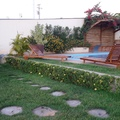 Paisagismo no espaço outdoor com piscina