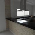 Papel de parede em balcão de cozinha